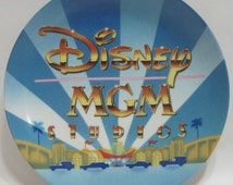 Circa 1987 Original Walt Disney MGM Studios Decorative Collectible Souvenir Memorabilia Porcelain Plate New with Tag Made in Japan - EBSR