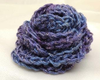 Purple Sparkle  Flower Brooch