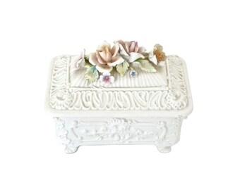 Vintage Capodimonte Trinket Box