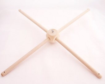 Wooden Mobile Hanger - Cube. Handmade in Europe. 100% Natural product