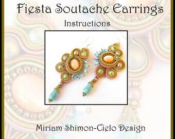 Fiesta Soutache Earring Tutorial