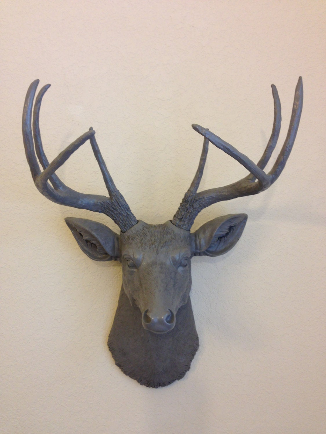 Faux Deer Head Hunting Trophy With Antlers By Foundandsouled