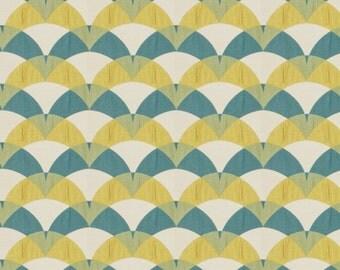 Turquoise Yellow Upholstery Fabric - Modern Blue Yellow Pillows - Turquoise Geometric Bedding - Yellow Curtain Panels - Custom Roman Shade