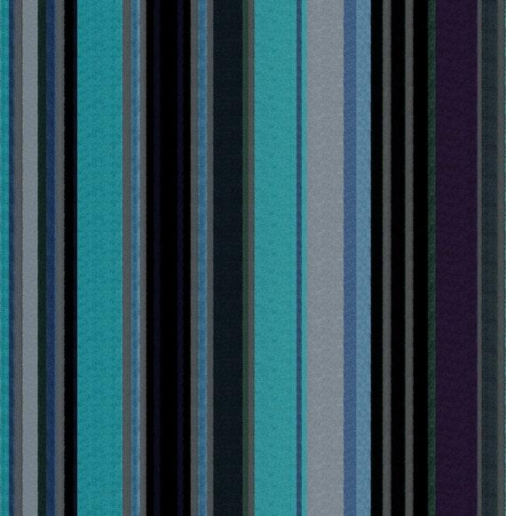 Turquoise Velvet Stripe Upholstery Fabric For By Popdecorfabrics