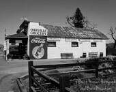 16x20 Oakville Grocery Napa Valley Vintage Black and White Fine Art Photograph Sonoma Wine Country Vineyards