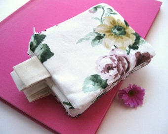 Bridesmaid Gift Bridal Wedding  pouches,  cotton zipped pouches, clutch