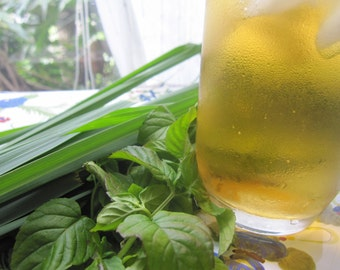 LEMON GRASS/MINT herbal tea blend - lemony, minty, fresh, non-caffeine, natural drink