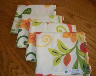 NAPKINS - Set of 4 - Tropical Tassie Fiasco Print