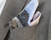 Up-cycled Mens Pocket Square Hand Made