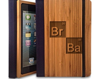 BrBa - Bamboo Wood iPad 2/3/4 Case, Wood iPad Case, iPad 2/3/4 Bookcase
