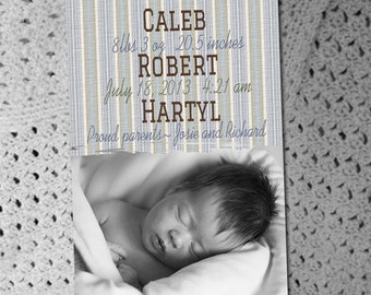 Photo Birth Announcements- Custom & Affordable, Print your own or Printed for you