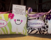 Personalized Tooth Fairy Pillow-Your Choice of Assorted Fabrics
