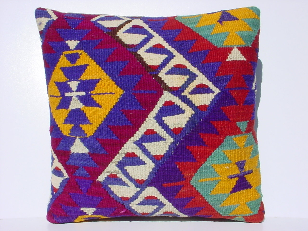 MODERN Bohemian Home Decor Turkish Kelim Pillow by TurkishKilimRug