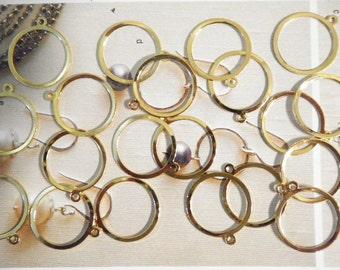 16 Goldplated Earring Hoop Charms