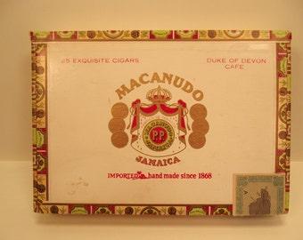 MACANUDO Cigars from Jamaica CIGAR BOX