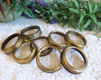 20 Vintage Rustic Canning Jar Lid Rings Shabby Primitive Standard Mouth Size B1249