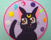 SALE--Sailor Moon Luna Embroidery Hoop