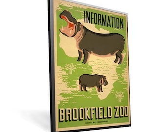 Vintage WPA Poster Visit the Brookfield Zoo on 8x12 PopMount Ready to Hang FREE SHIPPING 310080812