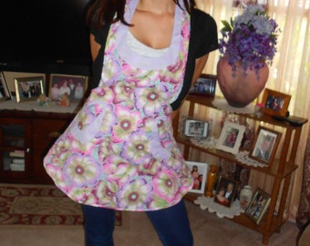 Woman Full Apron, Made To Order, You Pick Fabric And Colors