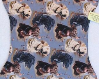 Dog Bowl Place Mat, Labrador Retriever, Pet Bowl Feeding Placemat, Chocolate Lab, Black Lab, White Lab, Retrievers, Dog Place Mats, large