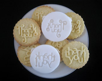 THANK YOU COOKIE Stamp recipe and instructions - make your own decorative cookies