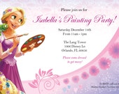 Princess Rapunzel Paint Your Dreams Party Birthday Invite