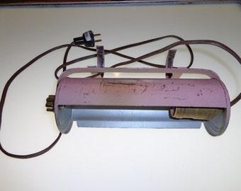 vintage pink headboard lamp