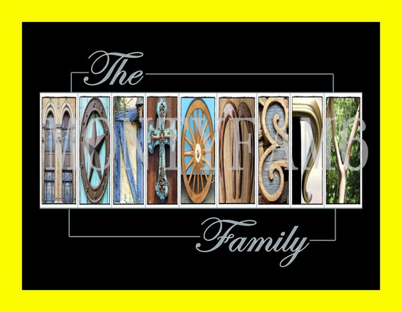 last name art photo letters alphabet photography wedding gift With last name letters photography