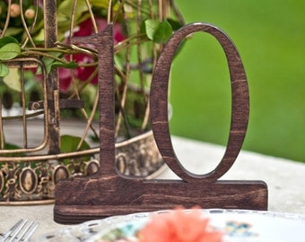 Stained Wood Wedding Table Numbers, Stained Table Numbers, Wedding Table Number