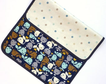 Whale changing mat - whale changing pad - baby changing mat - whale baby - waterproof changing mat - portable changing mat.
