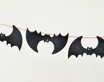 halloween decor halloween garland xl bats outdoor halloween decorations wooden bats halloween wooden decor
