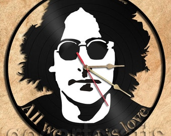 Wall Clock John Lennon Vinyl Record Clock Upcycled Gift Idea