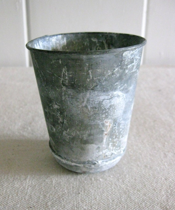 Small Zinc Pot Zinc Flower Pot Seed Pot Reproduction