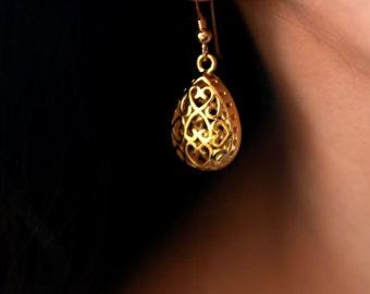 Drop earrings, gold earring, dangle earring, 14k earrings, teardrop earrings, gold teardrop earrings