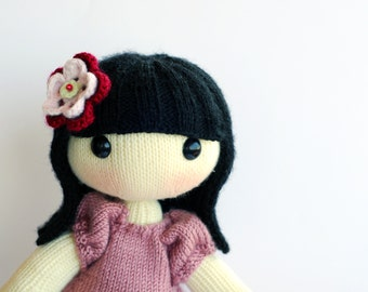 Anny. The Doll with big feet and hands. - pdf knitting pattern. Knitted in the round.