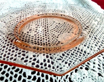 Pink Depression Glass  Dessert or Salad Plates Mix & Match set of 4