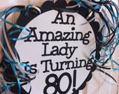 80th Birthday Decorations Giant Personalized Party Signs