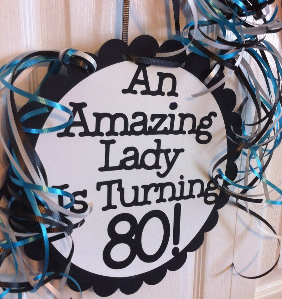 80th birthday decorations party favors ideas