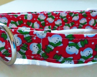 Christmas Dog Collar - Snow Man Dog Collar