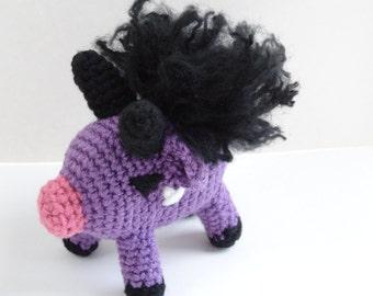 Crochet amigurumi baby behemoth minion ffxiv