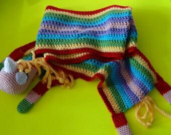 Adventure Time inspired Lady Rainicorn Crochet Scarf
