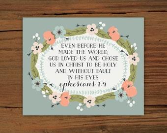 Ephesians 1:4 Print