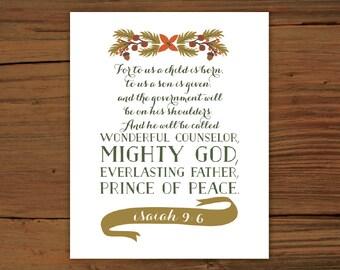 Isaiah 9:6 Print