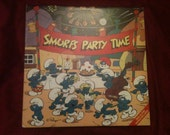 Smurfs Party Time, 1983.  music album record records albums vinyl lp lps 1980s kids vintage old songs