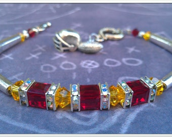 Inspired By The Washington DC Football team (Hog's) Crystal Baracelet