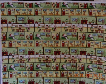 Great for Christmas - Santa's Workshop  Original Handmade Quilt.