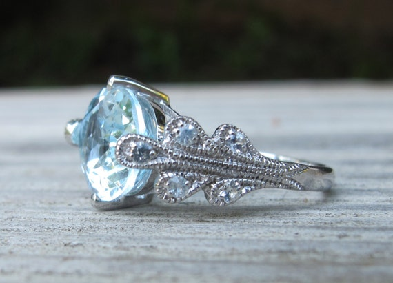 engagement ring promise ring topaz ring blue topaz ring. Black Bedroom Furniture Sets. Home Design Ideas