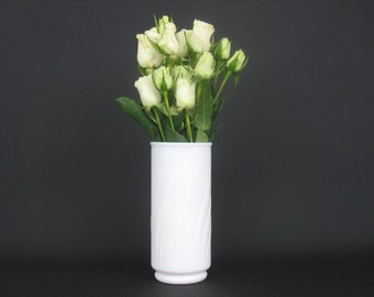 Vintage Milk Glass Cylinder Vase Wedding Decor Center Piece Cottage Chic