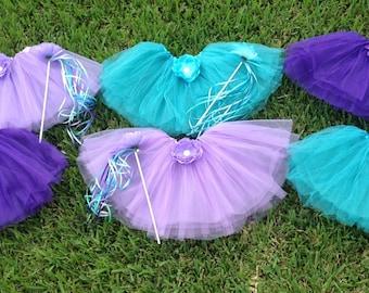 Little Mermaid Party Favors, Little Mermaid Tutus, Fairy Party Favors, Fairy Tutus, Ariel Party Favors, Ariel Birthday, Little Mermaid