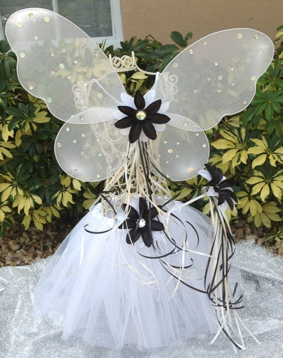 Ghost Costume Tutu,Ghost tutu set ,Wing, wand,  tutu ghost, Halloween Fairy Costume, Ghost Costume, Halloween Party Ghost